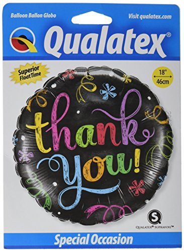 PIONEER BALLOON COMPANY 11826 Thank You Chalkboard Balloon Pack, 18