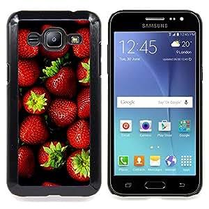 """For Samsung Galaxy J2 / J200 Case , Fresa bayas rojas Verano Verde"""" - Diseño Patrón Teléfono Caso Cubierta Case Bumper Duro Protección Case Cover Funda"""