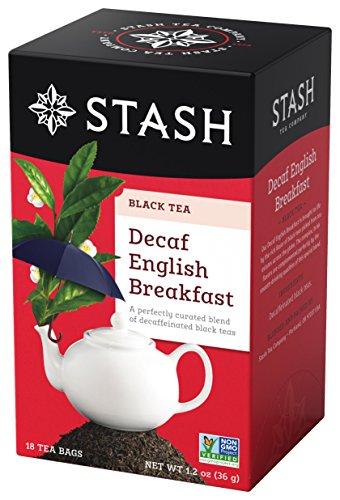 Tea Decaffeinated Irish - Stash Tea Decaf English Breakfast Black Tea 18 Count Box of Tea Bags in Foil (Pack of 6)