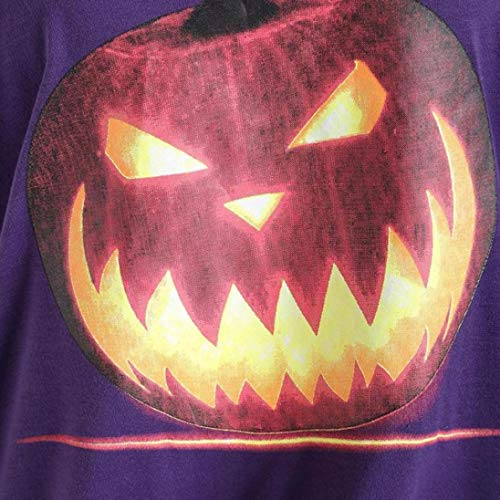 VJGOAL Sleeve Neck Plus Purple Skew Top Size Shirt Sweatshirt Womens Autumn Tops Angry T Halloween Long Blouse Winter Pumpkin Demon Theme 0Bnr0x