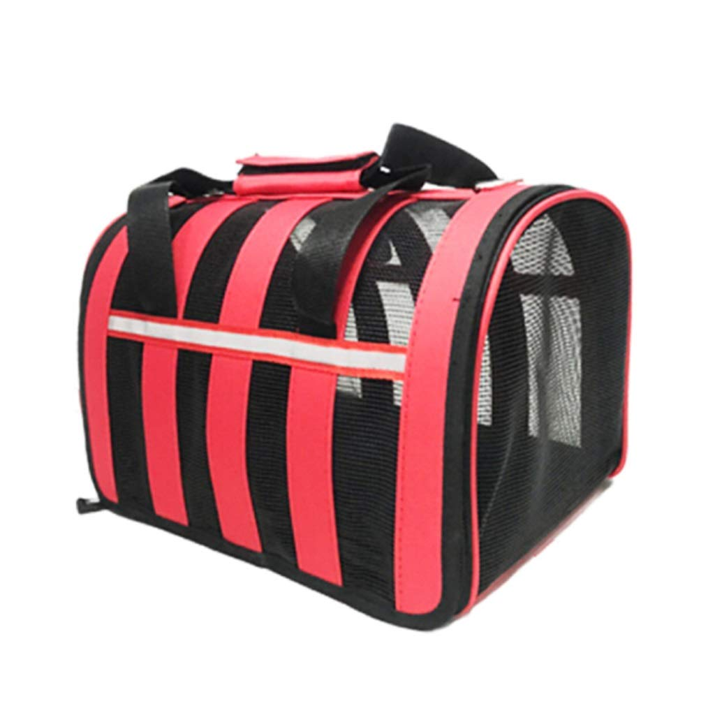 L 2019 Newly Designed-Wonder Creature Pet Carrier for Medium and Small Puppy and Cats,Waterproof Travel Pet Bed Folding Pets Kitten Cat Carriers Bags (Red) (Size   L)