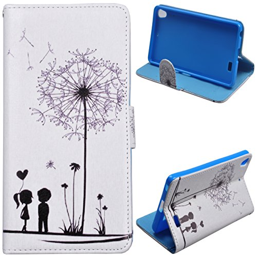 Einzige BLU Vivo Air (Little Couple) Slim Fit Leather Case Cover with Stand & Card Slots with Free Universal Screen-stylus