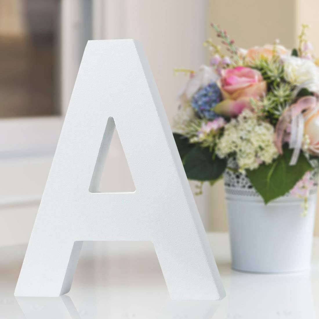 Multiple Sizes Decorative Free-Standing Alphabet Letters for Children Kids Bedroom Wedding Birthday Party Home Decor (A, 5inch / 12.7cm)