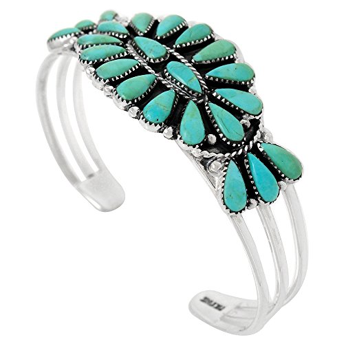 Turquoise Bracelet Sterling Silver 925 (Choose Style) (Southwest Style) by Turquoise Network (Image #1)