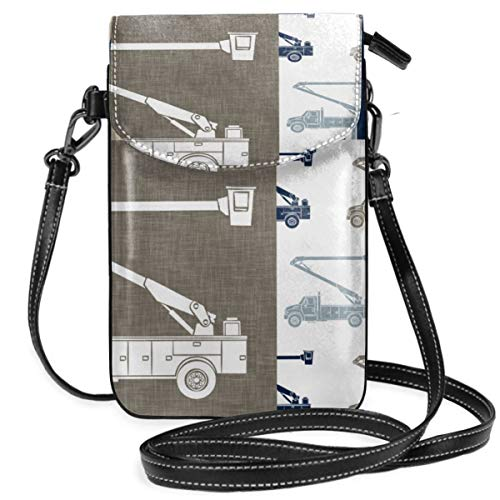 Small Cell Phone Purse Crossbody Cellphone Shoulder Bag Lineman Patchwork Tan Brown Plaid Smartphone Wallet Purse with Removable Strap