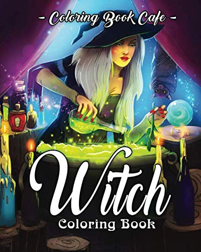 Halloween Coloring Page (Witch Coloring Book: A Coloring Book for Adults Featuring Beautiful Witches, Magical Potions, and Spellbinding Ritual)