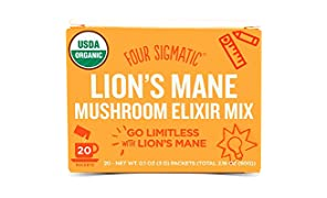 Four Sigmatic Organic Mushroom Elixir Mix with Lion's Mane and Antioxidants for Concentration + Focus, Vegan, Paleo, 0.1 Ounce (20 Count)