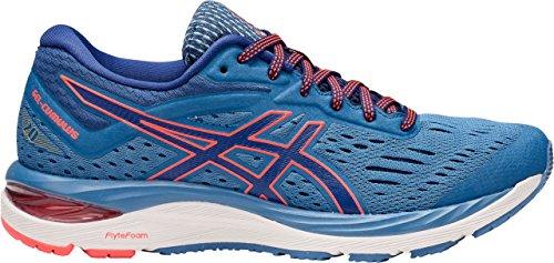 ASICS Women's GEL-Cumulus 20 Running Shoe Azure/Blue Print 11 (D) (Footwear Azure)
