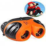 Photo : Toys for 4-5 Year Old Boys, DIMY 8x21 Compact Waterproof Travel Binoculars Orange DL05