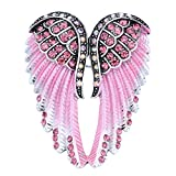 Szxc Jewelry Women's Crystal Angel Wings Guardian Pin Brooches