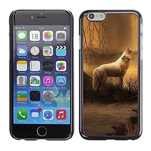 Paccase / SLIM PC / Aliminium Casa Carcasa Funda Case Cover para - White Wolf Forest Night Mist Fog Nature Art - Apple Iphone 6