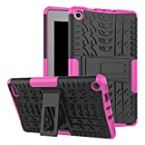 7 inch quad tablet case - Amazon Fire 7 Case, Fire 7 2017 Case, VPR Slim Premium Dual Layer Protection Case with Kickstand Hard PC + TPU Silicone Hybrid Anti-Scratch Cover For Amazon Fire 7 Inch Tablet 7th Generation (Rose)