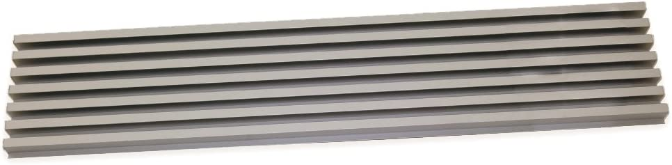 Emuca 8934869 Ventilation Grille for Fridge/Oven Cabinet, INOX Anodized