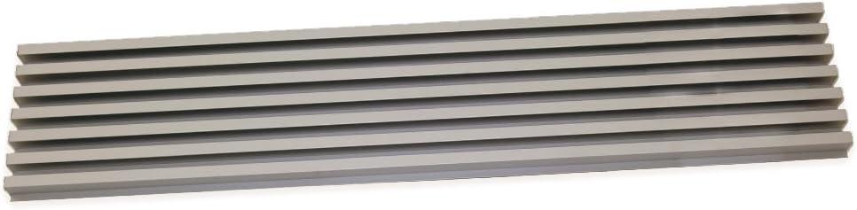Emuca 8934862 Griglia di Ventilazione per Frigorifero o Forno Anodizzato Opaco
