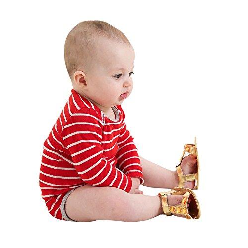 Sandalias De Bebe,BOBORA Prewalker Zapatos Primeros Pasos Para Bebe Color Diamond Baby Walker Sandalias oro