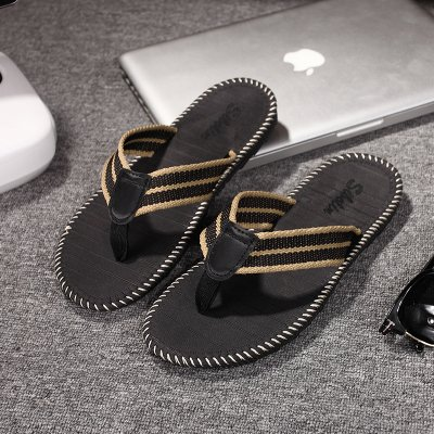 and Fashion Cool Slip Foot Male 44 Black Non fankou Trend The Slippers Slippers and Summer Grip Soft Students That Wear Beach The Drag HSw7S8Xq