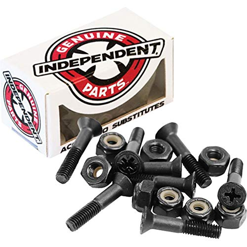 "Independent Genuine Parts Cross Bolts Standard Phillips Skateboard Hardware (Black/Black, 1 1/4"")"