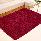 ZI LIN SHOP- Rug Simple Modern Living Room Rug Bedroom Bedside Bed Full Rectangular Shop rug ( Color : Red wine , Size : 200x300cm )