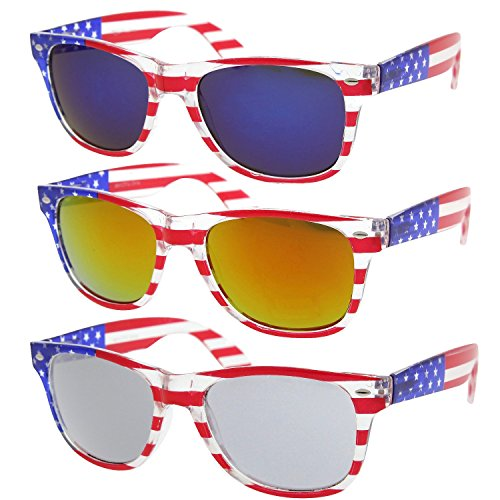 grinderPUNCH American Flag Sunglasses 3 Color Super Saver - Sunglasses Usa