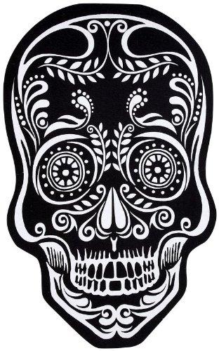Ganz Skull Doormat Black and White -