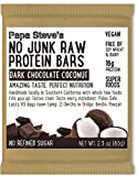 Papa Steve's No Junk Raw Protein Bars, Dark Chocolate Coconut, 2.3 Oz, 10 Count For Sale