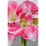 Elegant-Artificial-Pink-Amaryllis-Fern-and-Heather-Floral-Display-w-Grecian-Vase