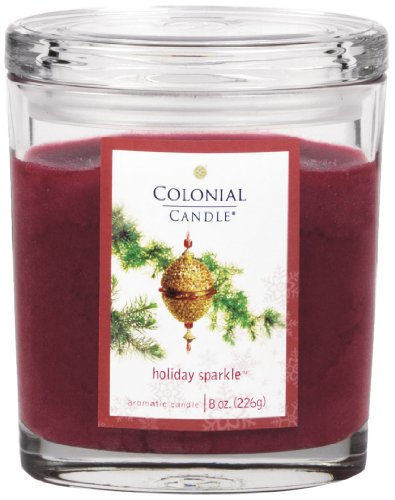 - Colonial Candle Holiday Sparkle 8 oz Scented Oval Jar Candle