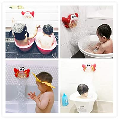 ANYANG DEXIN Douyin with The Same Paragraph Crab Bubble Machine Baby Bath Artifact Toy Children Play Water Absorbent Toys Bath Bubble Making Machine Educational Toys: Toys & Games