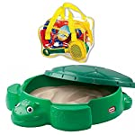 Little Tikes Turtle Sandbox (Turtle Sandbox with Toysmith Beach Set)