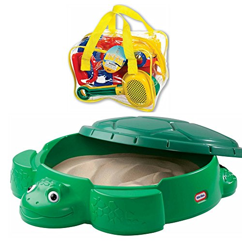 Little Tikes Turtle Sandbox (Turtle Sandbox with Toysmith Beach Set)