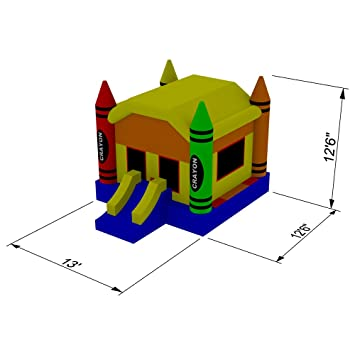 Amazon.com: HQ Bounce Casa 100% Crayon de PVC Castillo de ...