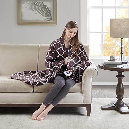 Beautyrest Plush Heated Throw Blanket - Secure Comfort Technology - Oversized 60