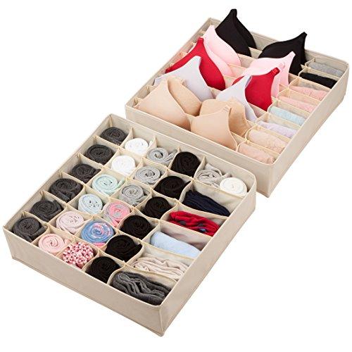 Univivi Closet Organizers Underwear Drawer Stor...
