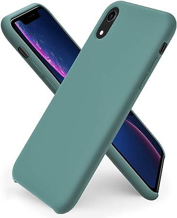 Ornarto Kompatibel Mit Iphone Xr Silikon Case Hülle Ultra Dünne Flüssig Silikon Handyhülle Schutz Für Iphone Xr 2018 6 1 Zoll Piniengrün Elektronik