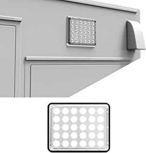 Alpha-Z 7x9 Emergency Vehicle Ambulance LED Surface Mount Light and Fire Truck LED Warning Light - Clear/Clear
