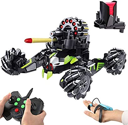 Amazon Com Rc Cars Fighting Battle Vehicle That Shoots Airsoft Bullets Shooting Games Target Practice Toys For Boys And Girls With Foam Dart Gesture Sensing Remote Control Car Toys Games