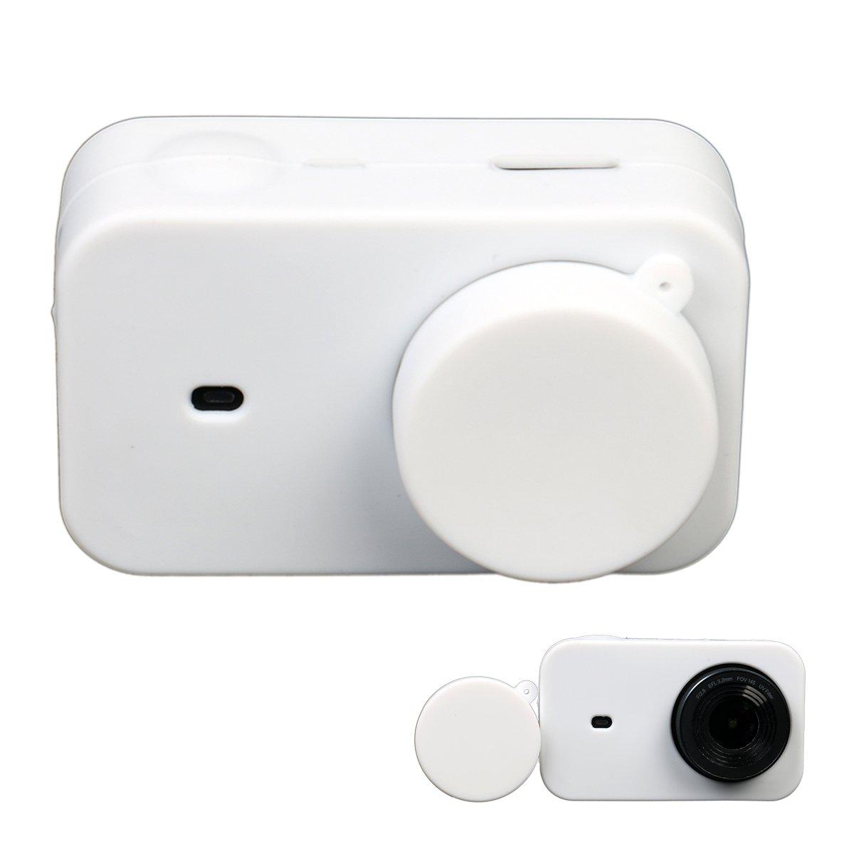 Flycoo - Funda de silicona con tapa para cámara Xiaomi MIJIA 4K Mini