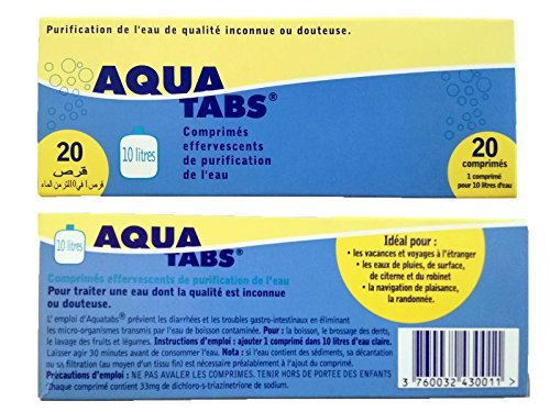 AQUATABS Water Purification Tablets 33 mg