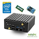 Jetway JBC313U591W Intel Celeron N3160 Dual LAN Fanless NUC /4GB, 60GB mSATA SSD - Configured and Assembled by MITXPC