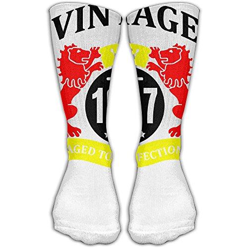 1957 Aged Women & Men Socks Soccer Sport Tube Stockings Length 30cm