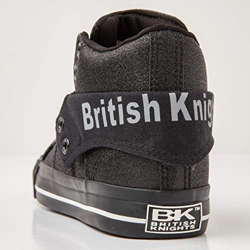 Roco British black A Alto black Nero 01 Knights Collo Donna Sneaker 5rT58q