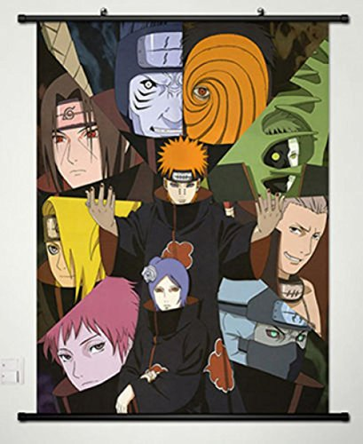 Cartoon world Home Decor Anime Naruto Wall Scroll Poster Fab
