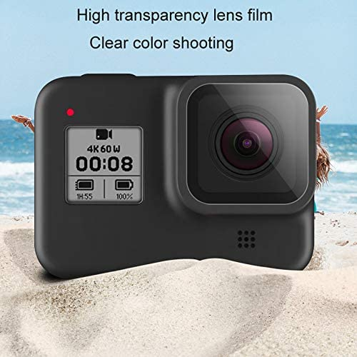 RONSHIN Electronics Tempered Glass Lens Film Screen Protector for GoPro Hero 8 Black Camera Toughened Anti-Scratch Display Accessories
