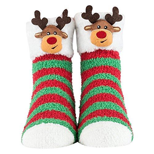 Cozy Critter Socks (Reindeer) - Reindeer Cat