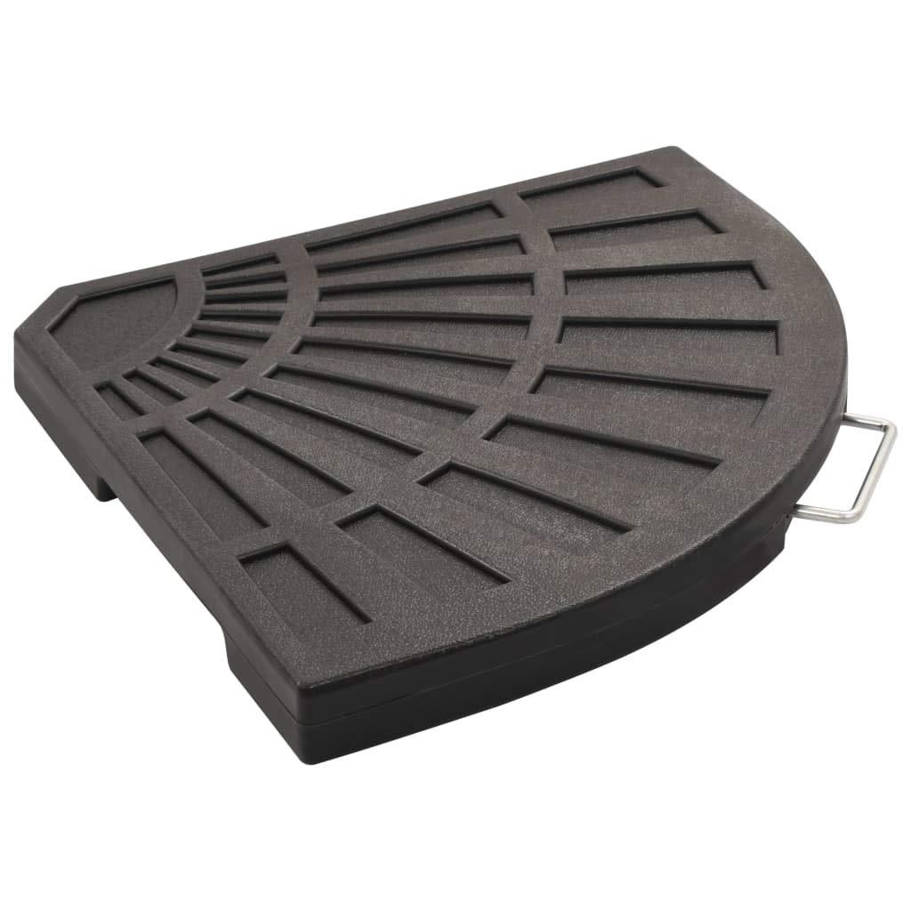 vidaXL Base Pieghevole per Parasole Acciaio Nero 2,75 kg Sostegno Ombrellone