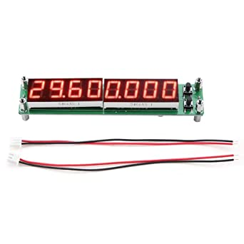 Red PLJ-8LED-H RF Signal Frequency Counter Cymometer Tester Module 0.1~1000MHz