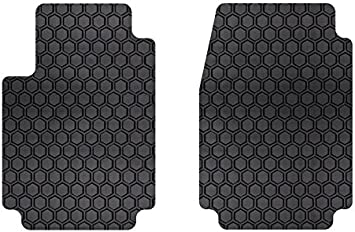 Intro-Tech IN-675F-RT-G HexoMats Front Row 2 pc Gray Custom Fit Auto Floor Mats for Select Infiniti Q60 Models Rubber-Like Compound