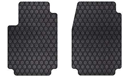 Custom Fit Auto Floor Mats for Select Hyundai Genesis Models Rubber-like Compound Intro-Tech HY-664F-RT-G Hexomat Front Row 2 pc Gray