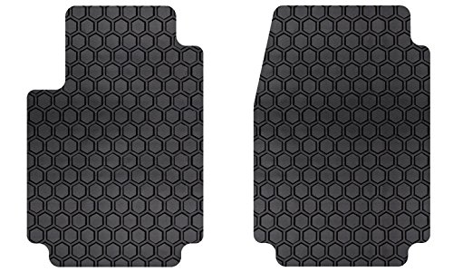 Intro-Tech JA-126F-RT-B HexoMats Front Row 2 pc. Custom Fit Auto Floor Mats for Select Jaguar XJ-S Models w/6 Cyl. - Rubber-like Compound, Black by Intro-Tech Automotive