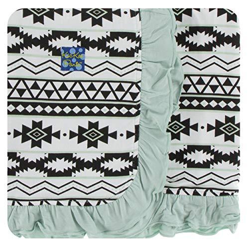 Kickee Pants Cancun Print Ruffle Stroller Blanket - Natural Mayan ()